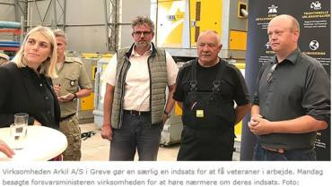 Forsvarsministeren indstifter virksomhedspris
