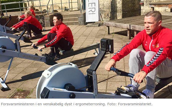 Minister i ro-dyst mod danske Invictus-atleter