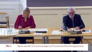 FE-skandalen – Forsvarsministeren i samråd på Christiansborg