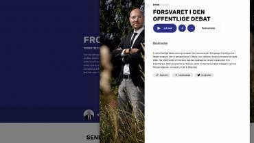 """Folk & Sikkerhed i radioen – """"Forsvaret i den offentlige debat"""""""