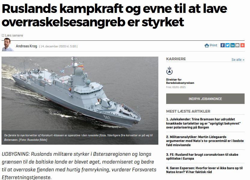 Forsvarets Efterretningstjeneste: Ruslands militær styrket i Østersøen